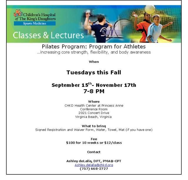 Pilates Program September