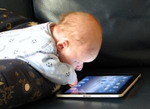 Baby with iPad 2