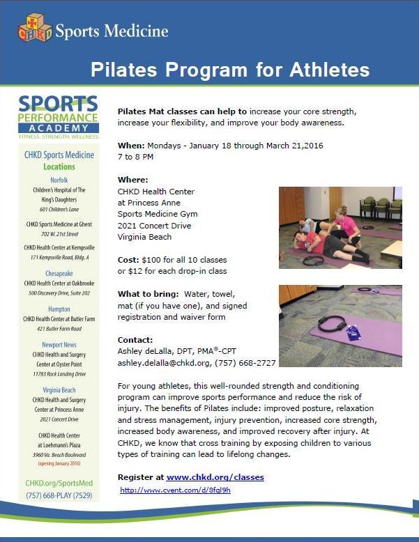 Pilates Program January